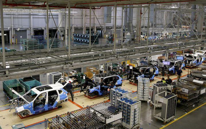 Fließband im BMW-Werk Spartanburg, South Carolina