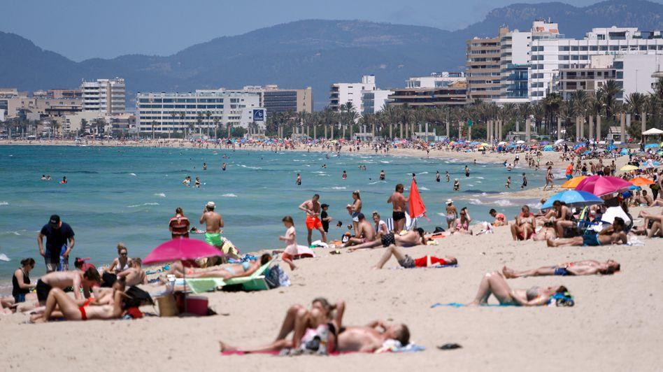 So sieht's an Mallorcas Stränden schon wieder aus (Aufnahme vom 29. Mai)