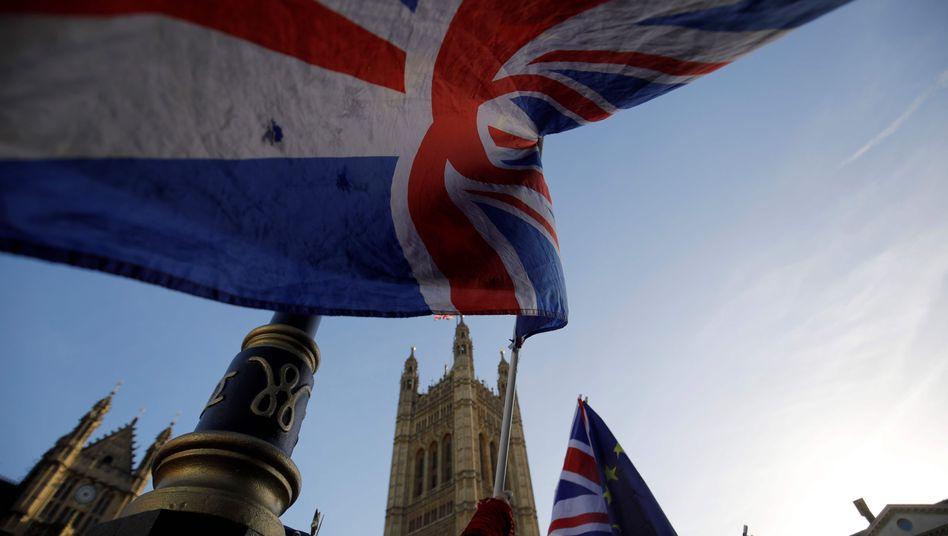 Anti-Brexit-Proteste in London vor dem Parlamentsgebäude