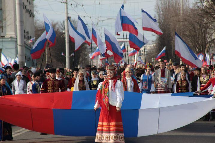 Feierlichkeiten zum fünften Jahrestag der Krim-Annexion