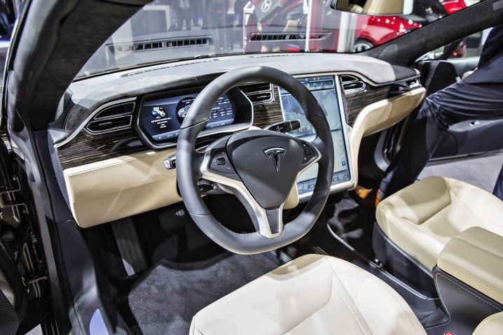 Cockpit des Model S