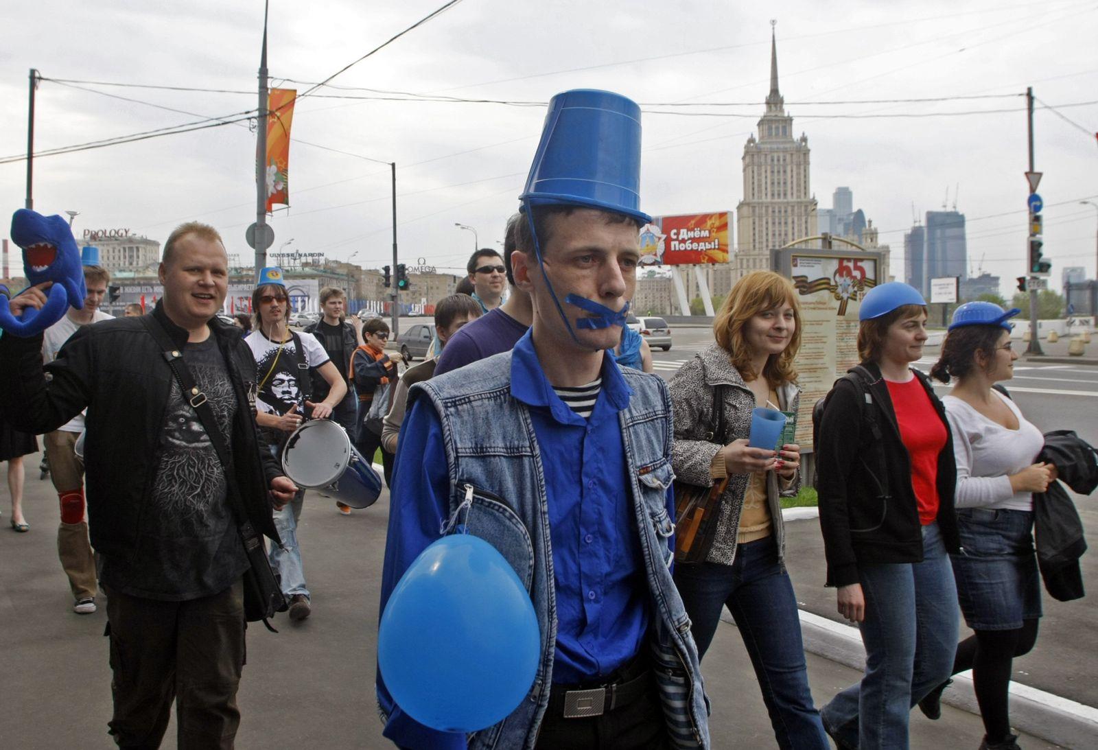 Russland / Demo / Blaulicht