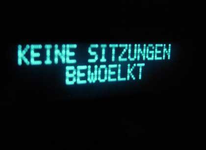 Bundestagschild: Soweit ist es noch nicht