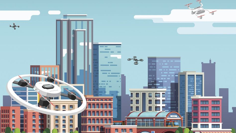 """Drohnen, Flugtaxis und Passagiermaschinen müssen sich künftig den Platz am Himmel teilen: """"Enormer Umschwung für das gesamte Luftverkehrsmanagement"""""""