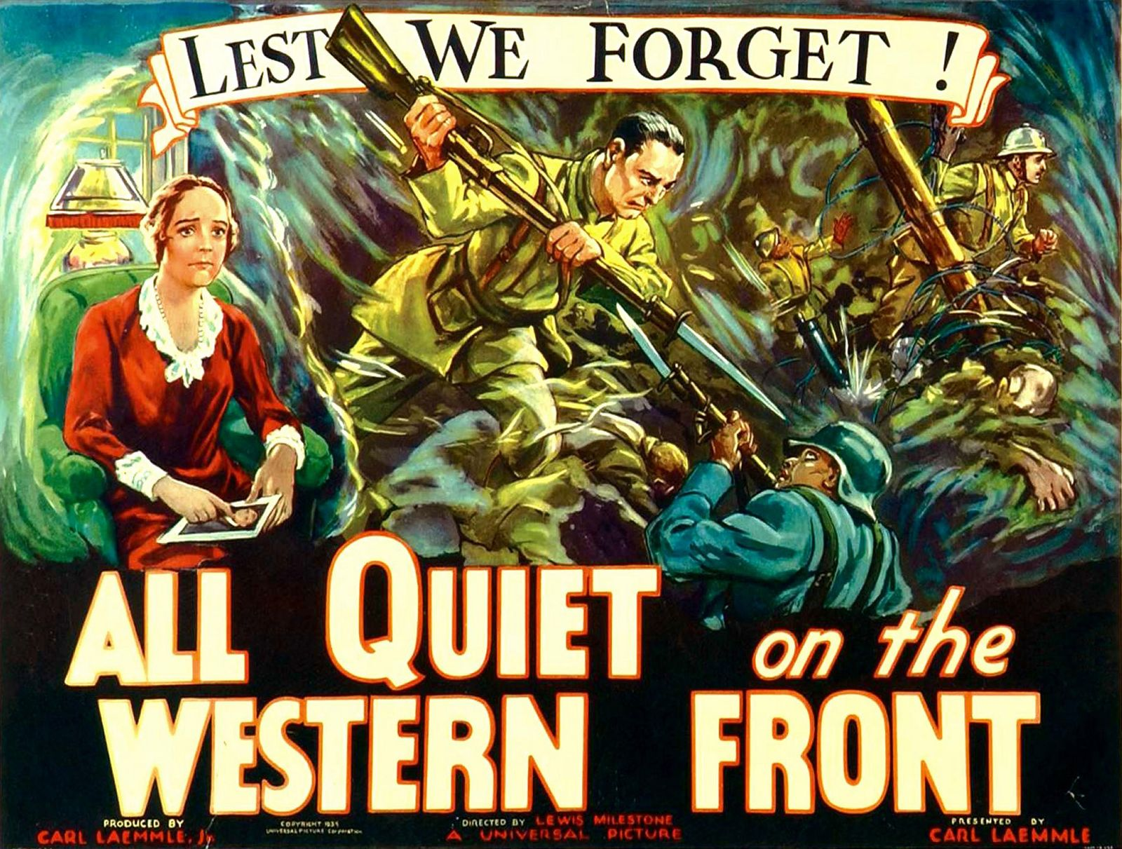 ALL QUIET ON THE WESTERN FRONT, poster art, 1930.