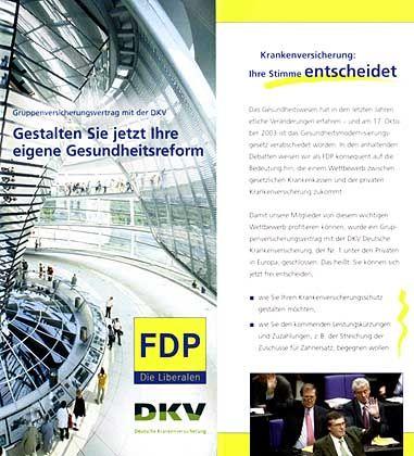 FDP-Prospekt: Alles für die Portokasse