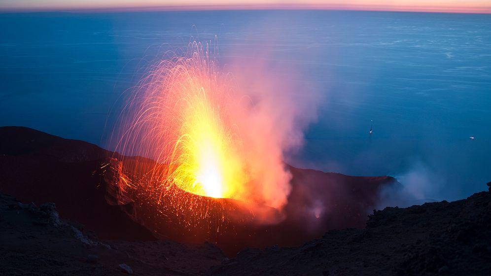 Supervulkane: Leichtes Magma treibt nach oben