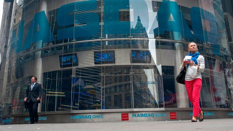 Für die Facebook-Aktie geht es weiter abwärts: Sitz der Tech-Börse Nasdaq in New York