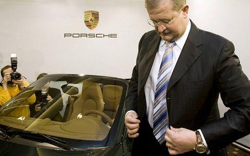 Wendelin Wiedeking, seen here in a 2008 file photo, has resigned as CEO of Porsche.