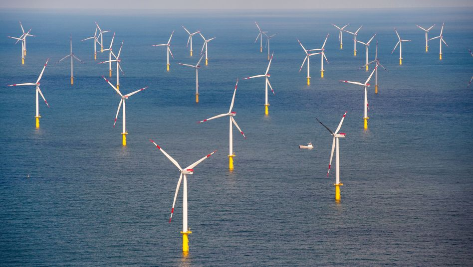 Offshore-Windpark Butendiek, 30 Kilometer vor Sylt: Windkraft liefert den Strom für die Produktion