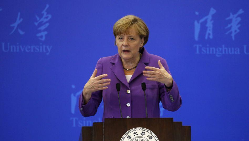 """Bundeskanzlerin Merkel vor chinesischen Studenten: """"Neuland suchen"""""""