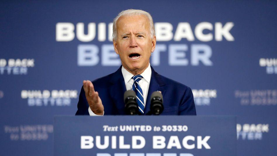 Joe Biden im Wahlkampf