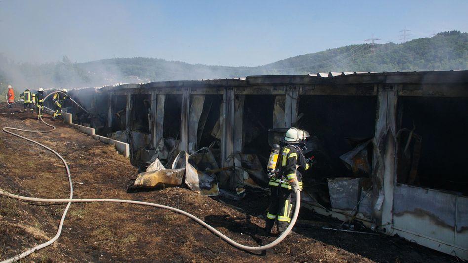 Brand in Asylbewerberunterkunft Haßmersheim (Juli 2018)