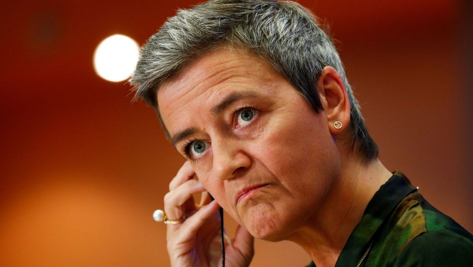 EU-Kommissarin Margrete Vestager im Europaparlament