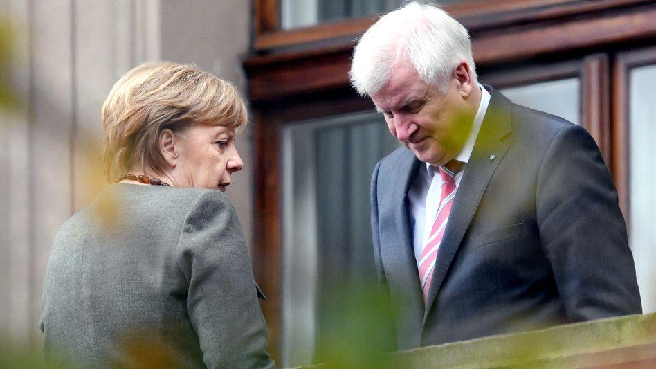 Angela Merkel, Horst Seehofer (Archivbild)