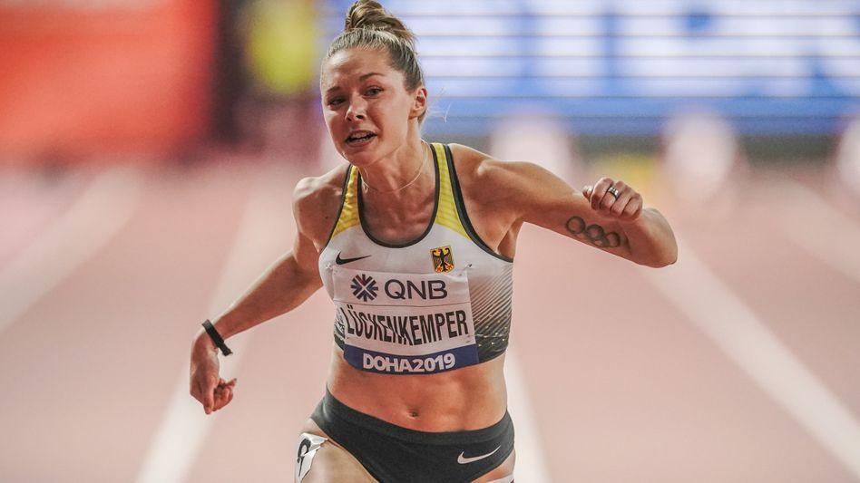 Sprinterin Gina Lückenkemper (im WM-Halbfinale in Doha 2019): Professionell und trotzdem nahbar