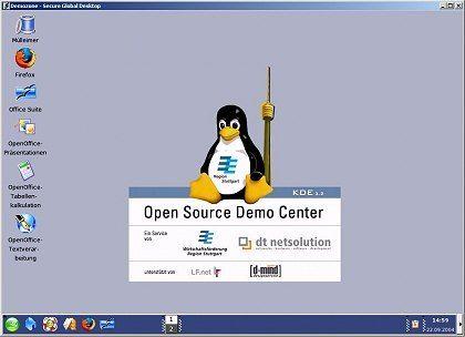 """Alles ganz unverbindlich: Das """"Open Source Demo Center"""" erlaubt einen Einblick in Linux"""