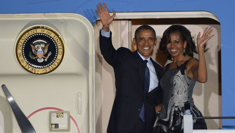 The Obamas left Berlin at just after 10 p.m. on Wednesday evening after a 24-hour visit.