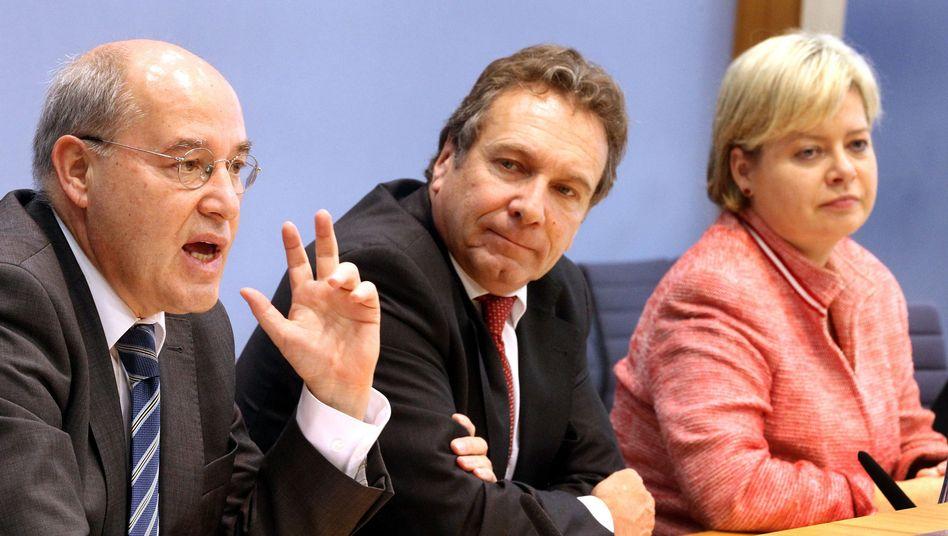 Linke-Chefs Ernst, Lötzsch: Unterschrift vom Automaten