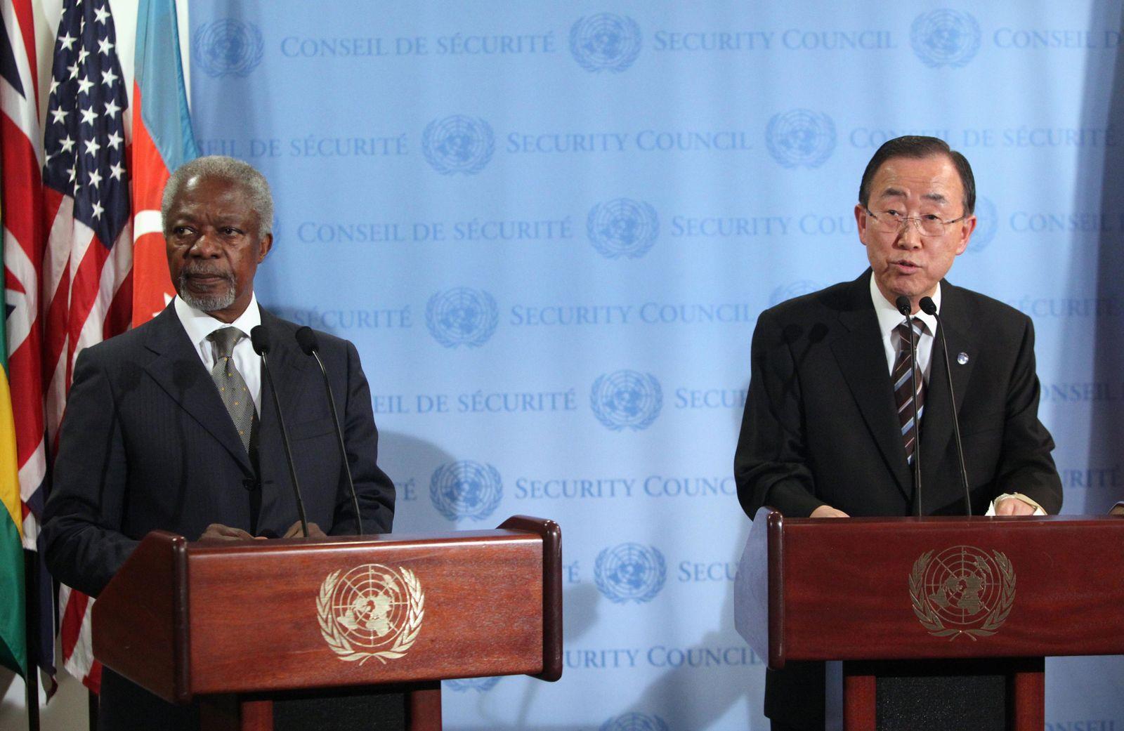 Ban Ki Moon und Kofi Annan