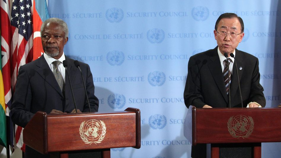 """Sondervermittler Annan, Uno-Generalsekretär Ban: """"Wir brauchen Taten"""""""