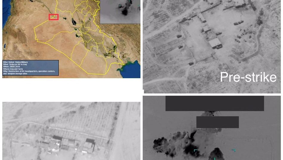 Handout des Pentagon soll Ziele im Irak zeigen
