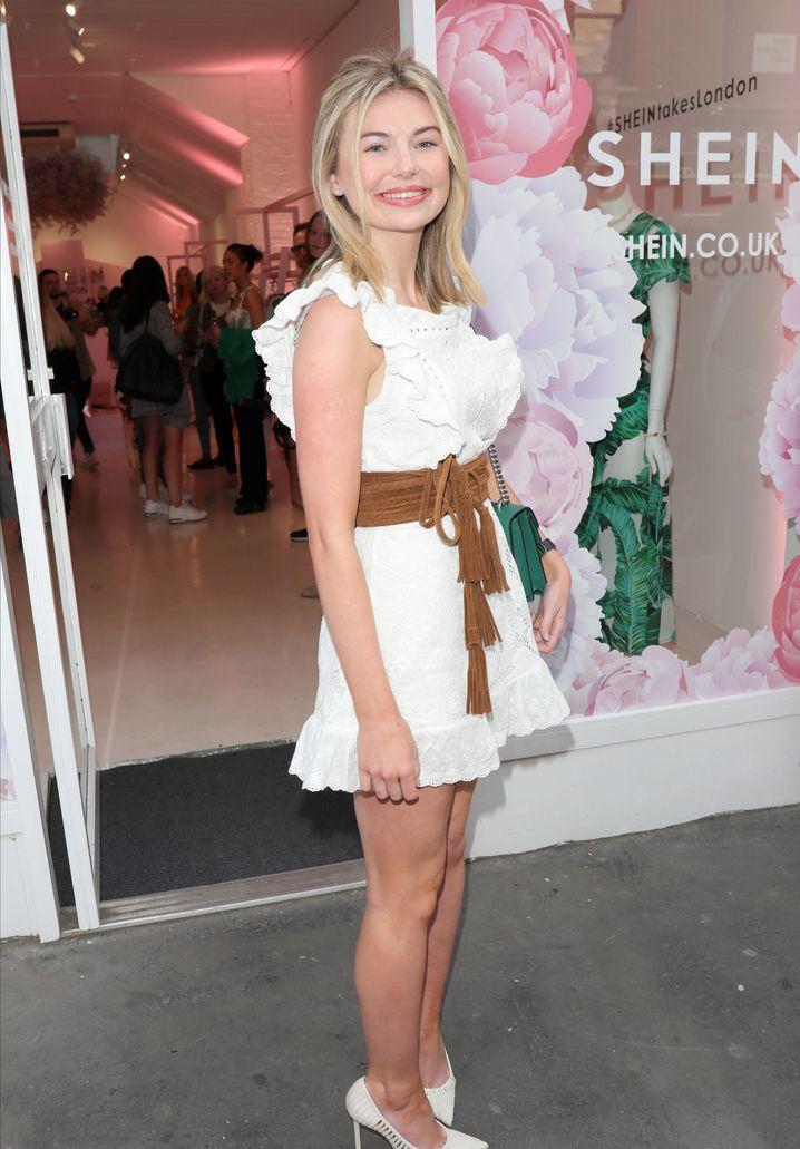 Der Onlinehändler Shein öffnet manchmal Pop-up-Stores – wie hier in London mit der britischen TV-Bekanntheit Georgia Toffolo