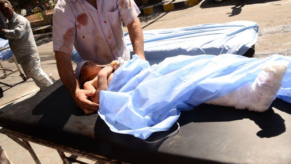 Verwundetes Kind in Aleppo