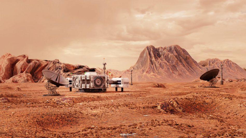 Vision einer Forschungsstation auf dem Mars