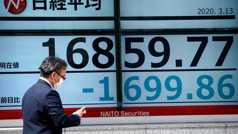 Kursverluste in Japan im März: Erst Sturz, dann Chance