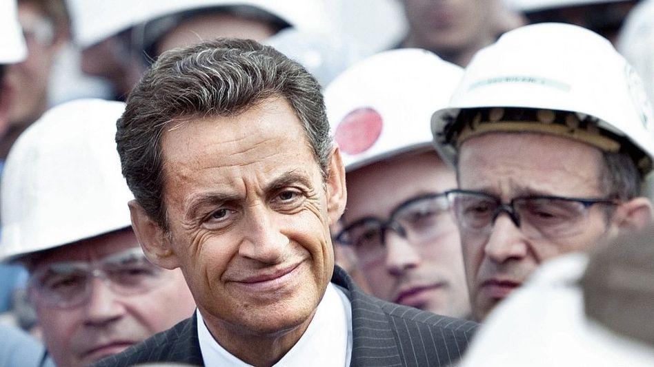 Präsident Sarkozy: Anflug von Panik