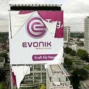Werbebanner von Evonik: Folgekosten für Bergbau sollten gedeckt werden