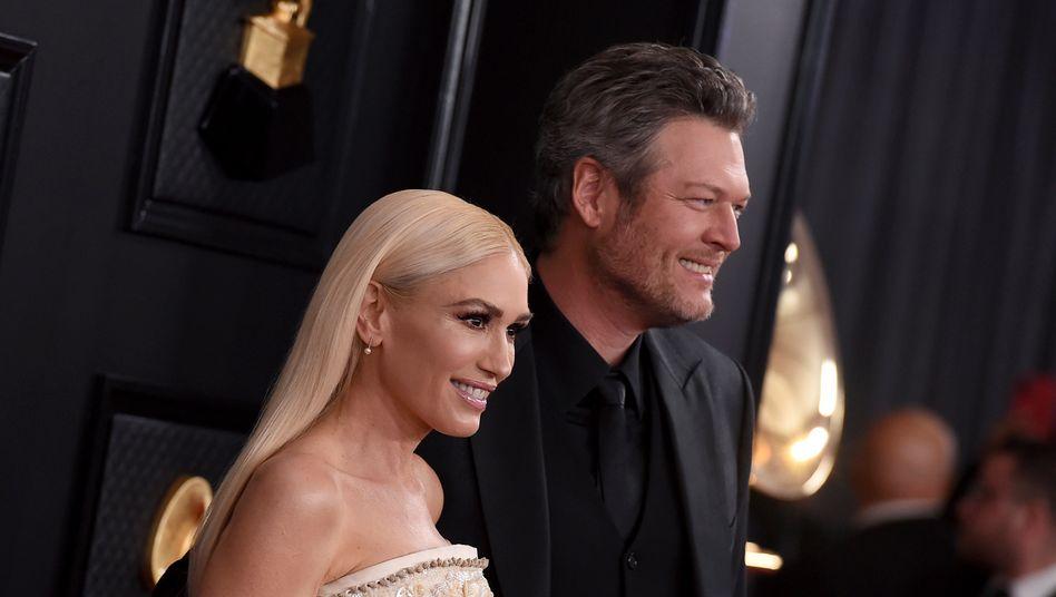 Gwen Stefani und Blake SheltonAnfang des Jahres bei der Grammy-Verleihung