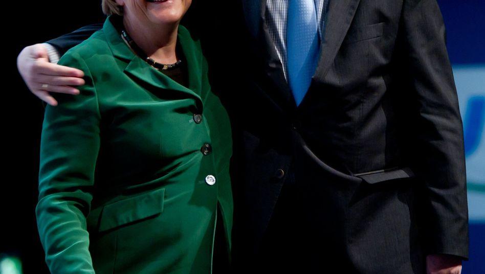 Unionsspitzen Merkel, Seehofer: Gut gerechnet?