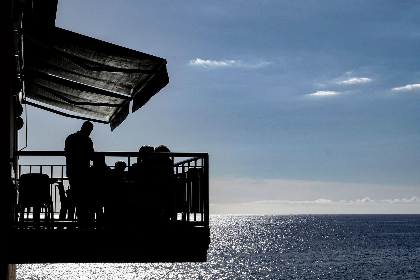Ponta do Sol, Madeira, Portugal The balcony at an outdoor restaurant. (A. Farnsworth)