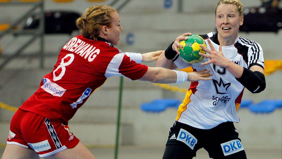 Handballerin Krause (r.): Überraschungserfolg gegen Norwegen