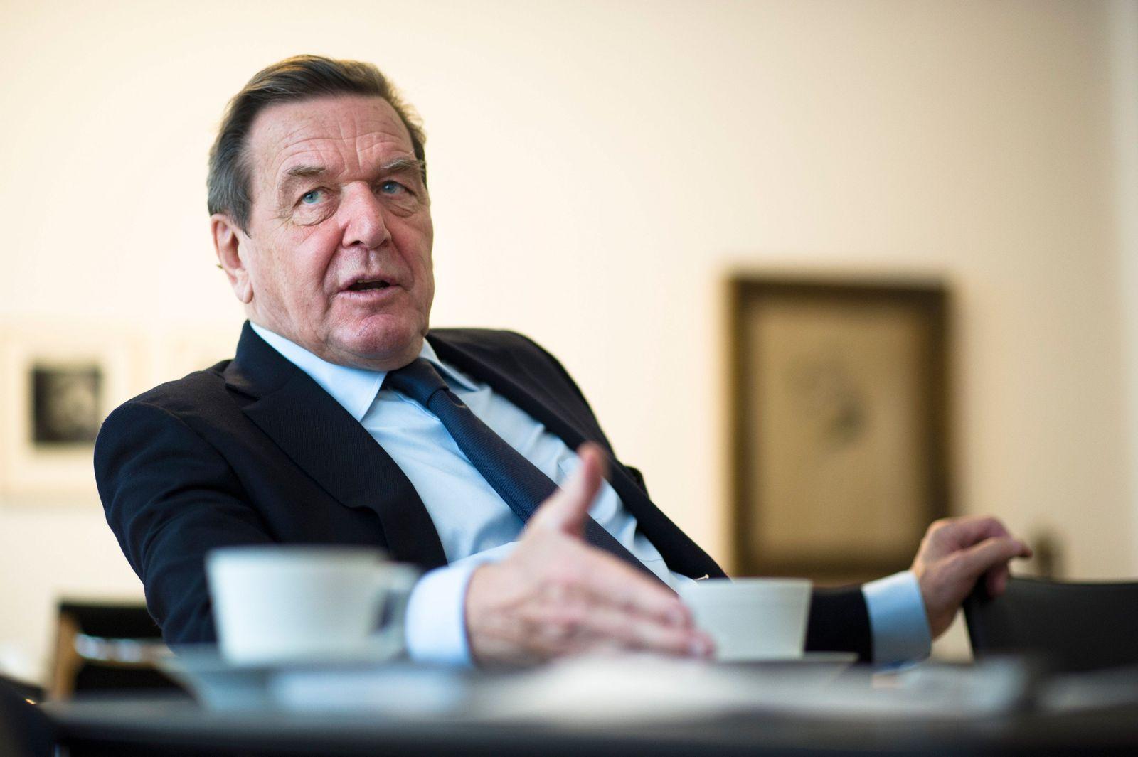 EINMALIGE VERWENDUNG Gerhard Schröder