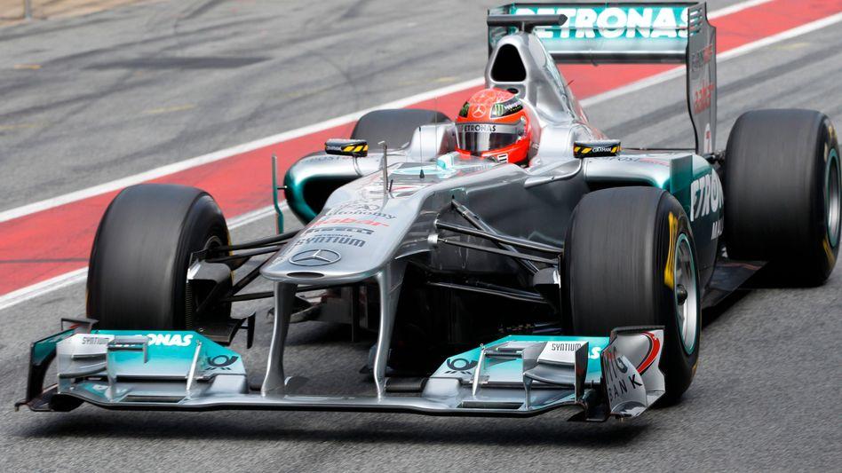 Mercedes-Pilot Schumacher: Schneller als der Weltmeister