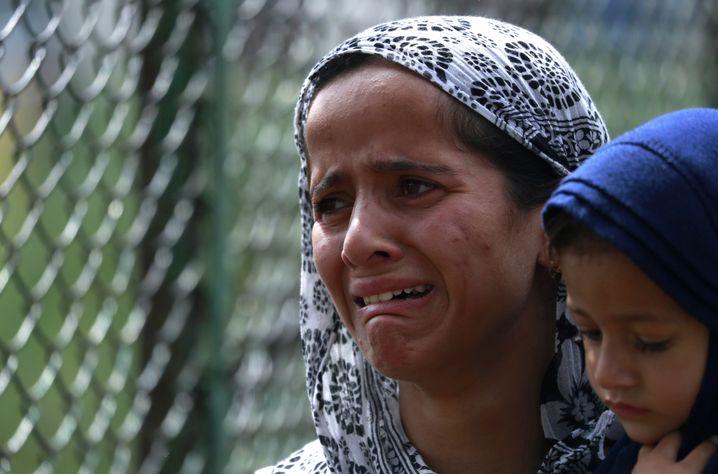 Muslimin mit Kind in Kaschmir: Die arabische Welt gibt der Regierung in Neu-Delhi Rückendeckung