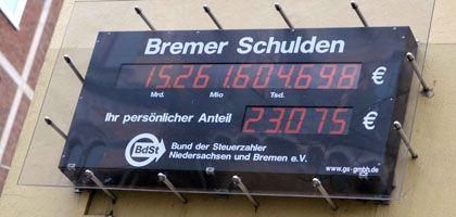 Schuldenuhr (in Bremen): Das Bauchgefühl entscheidet
