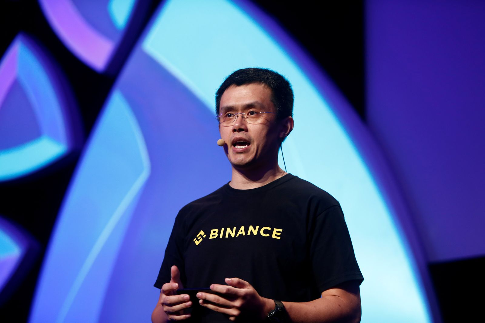 Changpeng Zhao, CEO of Binance, speaks at the Delta Summit, Malta's official Blockchain and Digital Innovation event promoting cryptocurrency, in St Julian's