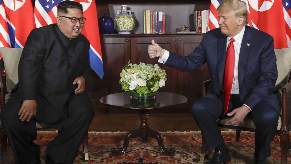 Kim und Trump in Singapur