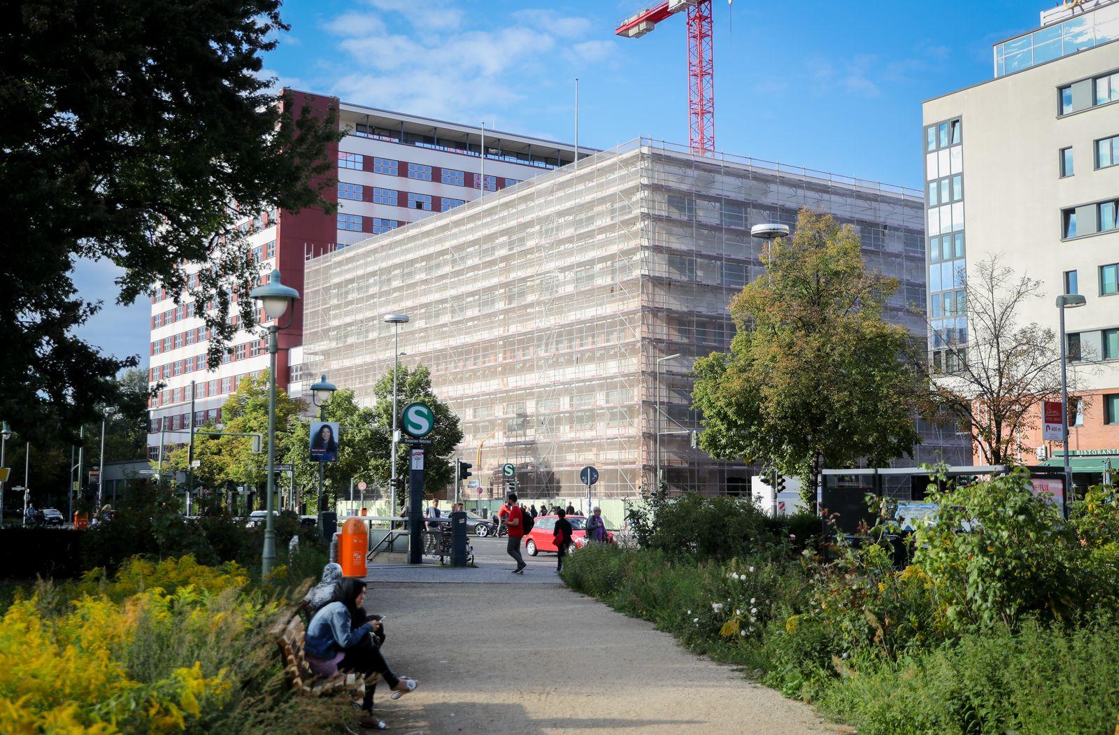 Bauarbeiten am Deutschlandhaus