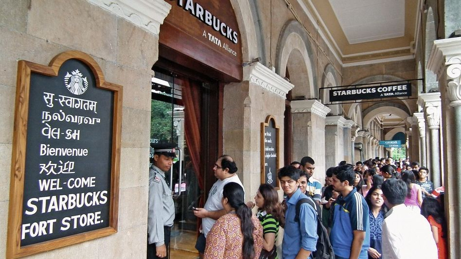 Starbucks-Filiale in Mumbai: 1,2 Milliarden potentielle Kunden