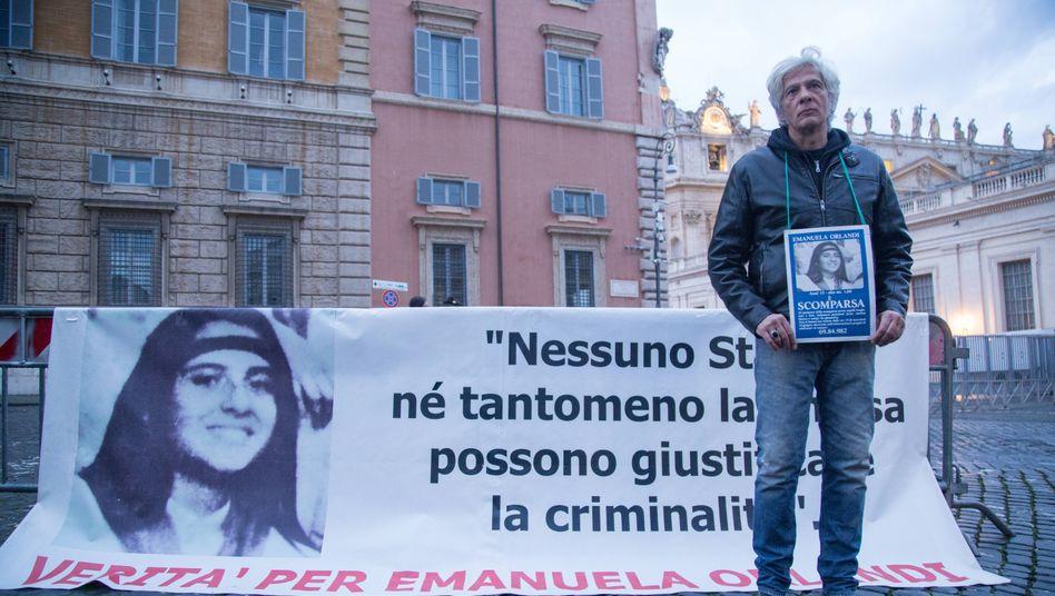 Pietro Orlandi fordert Gerechtigkeit für seine verschwundene Schwester