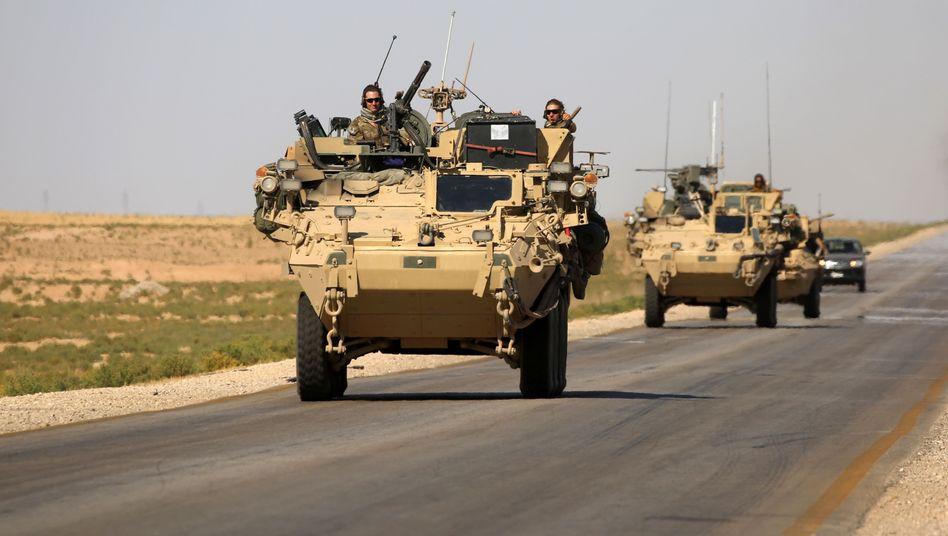 """US-Truppen in Nordsyrien (Archivbild): """"Die Türken wissen, dass dort US-Streitkräfte präsent sind"""""""