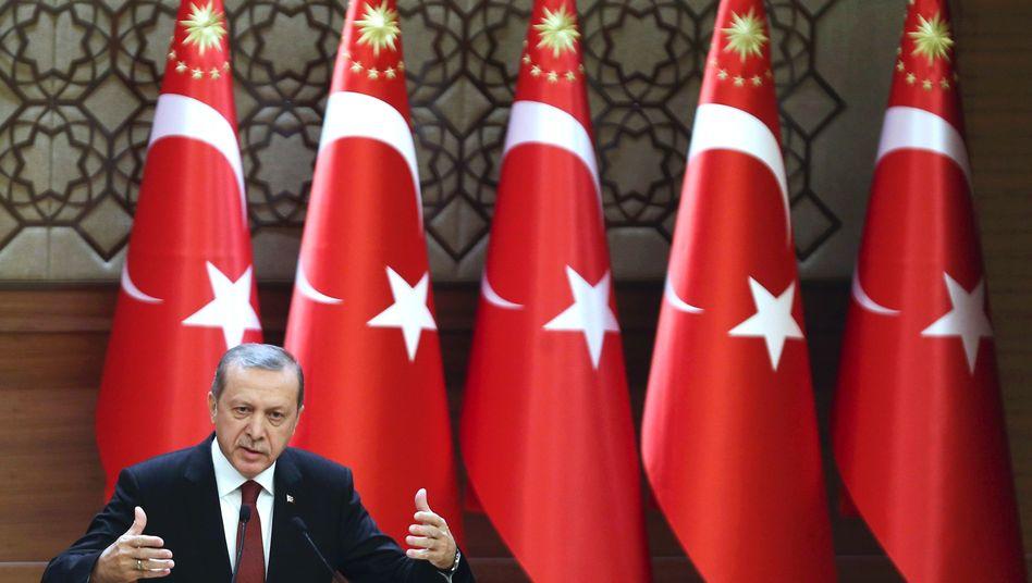 Erdogan (Archiv): Drastische Worte in der Neujahrsansprache