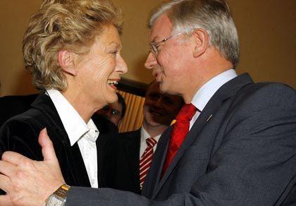 Frankfurts CDU-Oberbürgermeisterin Roth, Hessens Ministerpräsident Koch: Lob für die Frau vom Main