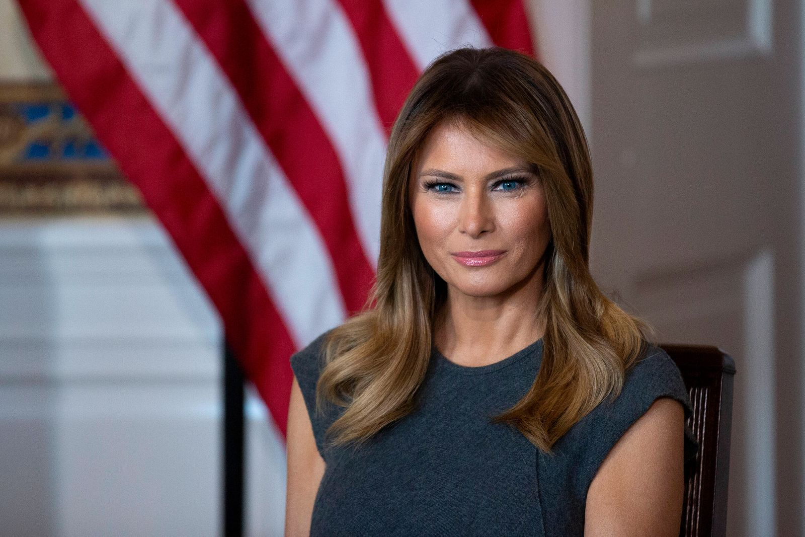Entertainment Bilder des Tages First lady Melania Trump holds a listening session with youth from the Truth Initiative,