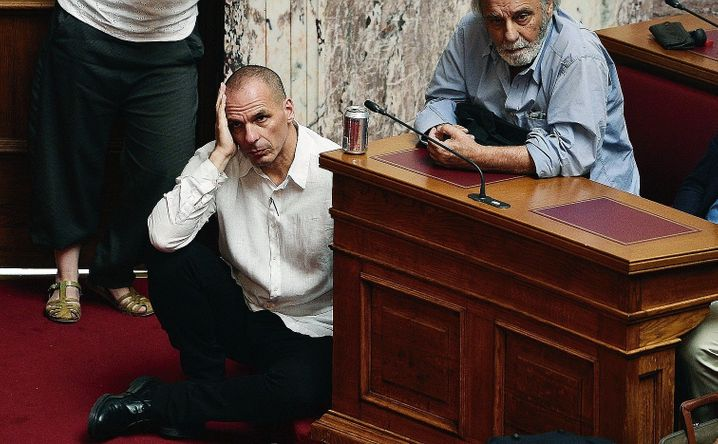 """Minister Varoufakis in Greek parliament in 2015: """"It was a pain."""""""